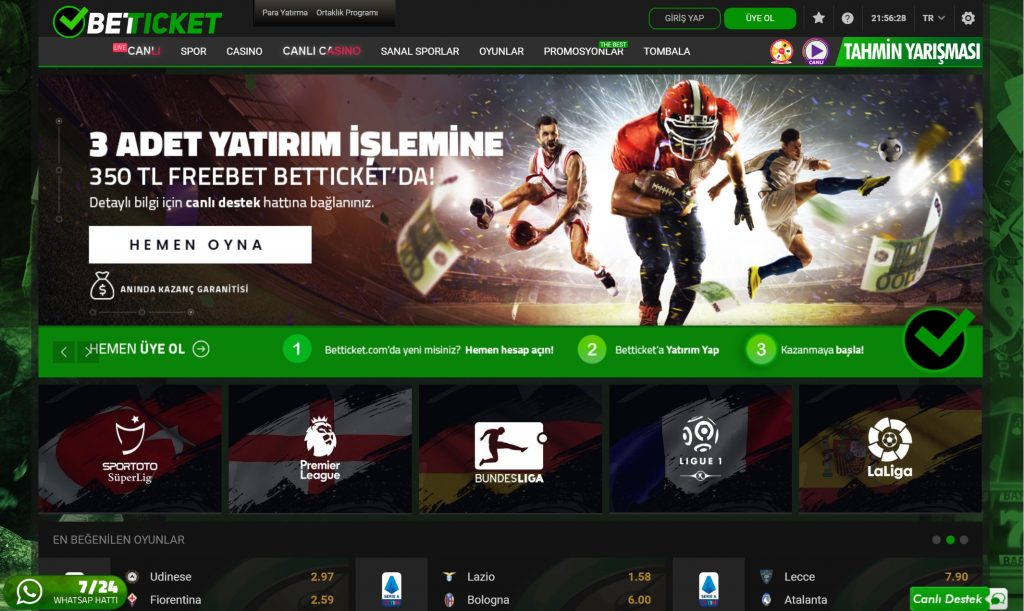 betticket giriş adresi